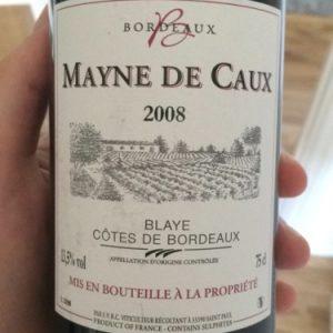 Chateau Mayne de Caux bt 75 cl côtes de blaye 2013