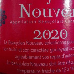 Beaujolais nouveau 2020 bt 75 cl